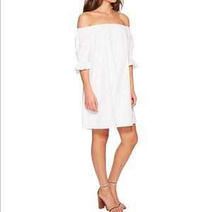 1 State off the shoulder white dress